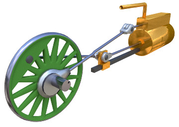 Image of 3D model 'Double acting steam engine'