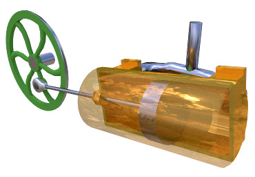 Image of 3D model 'Oscillating cylinder steam engine'